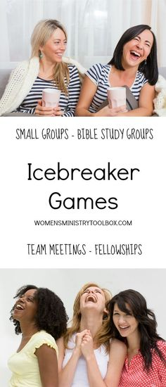 Icebreakers & Games Build community with Icebreaker Games – Free printables for small groups, Bible study groups, fellowship, and team meetings. Ice Breakers For Women, Group Ice Breakers, Group Ice Breaker Games, Ice Breaker Games For Adults, Games For Moms, Games For Teens, Womens Ministry Events, Ladies Ministry Ideas, Small Group Bible Studies