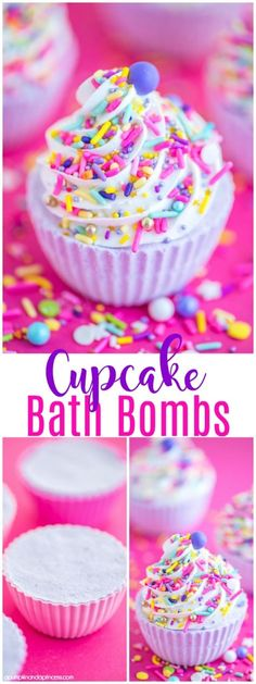 DIY Cupcake Bath Bombs 2019 DIY Cupcake Bath Bombs â how to make a cupcake bath bomb with royal icing and sprinkles. This essential oil bath bomb makes a great handmade birthday gift! The post DIY Cupcake Bath Bombs 2019 appeared first on Birthday ideas. Mason Jar Crafts, Mason Jar Diy, Essential Oil Bath Bombs, Essential Oils, Cupcake Bath Bombs, Diy Bath Bombs, Making Bath Bombs, Homemade Bath Bombs, Handmade Birthday Gifts