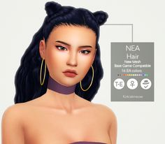A new hairstyle 'Nea' for your female sims! I hope you enjoy it! C: Credits: EA for the mesh and textures. Made with Sims4 Studio. • Base Game Compatible • Hat Compatible • Custom Thumbnail • 16 EA...