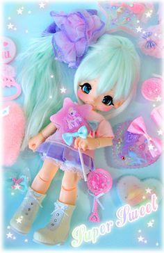 Bjd Kiki Kinoko Juice custo par Megu. fairy kei