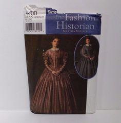 Simplicity Fashion Historian Costume Pattern 4400 Size 8-14 Civil War M McCain #Simplicity #Sewing #Patterns #Costumes #Shop #eBay