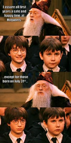 Harry Potter and Neville Longbottom  First, they were all ~(/\./\)~~(/\./\)~  Then, they were all O.o O.O potterhead-and-proud-of-it