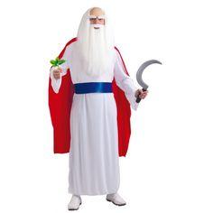 Tovenaars kostuum voor volwassenen. Dit tovenaars kostuum voor volwassen bestaat uit een tuniek met cape en een riem. One size, valt ongeveer als maat L.
