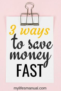 Saving money tips. S