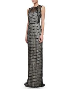 Alexis Wylie leather detail gown