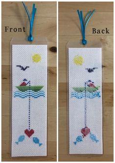 Cross Stitch Bookmark, Finished Product, Laminated