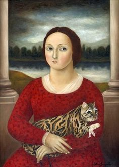 By Fatima Ronquillo, 'Woman with Injured Cat'.