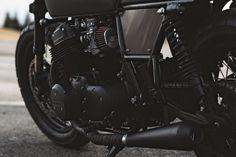 Blacker Than Black: custom 1978 Honda CB750 by Clockwork Motorcycles