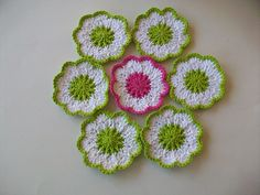 Ravelry: luvmygirlies' Springtime Coasters.  Free crochet pattern on Ravelry.