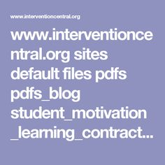 www.interventioncentral.org sites default files pdfs pdfs_blog student_motivation_learning_contract.pdf