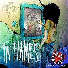 Alex Pardee artwork for In Flames EP The Mirrors Truth Best Album Art, Best Albums, Death Metal, In Flames Band, Skate, Alex Pardee, Alternative Metal, Metal Bands, Graffiti Art