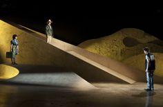 Scenic design by Joey Mendoza. Stage Set Design, Set Design Theatre, Scenography Theatre, Experimental Theatre, Modern Lighting Design, Theater, Dream Art, Scenic Design, Exhibition Space