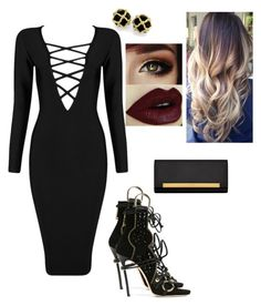 """""""Sin título #124"""" by pricsila-marquina-gonzalez on Polyvore featuring moda, Posh Girl, Dsquared2 y Yves Saint Laurent"""