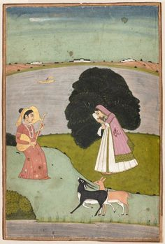Todi ragini. Pahari second half of 17th century.  Object Place: Northern Deccan or Punjab Plains  http://www.mfa.org/collections/object/todi-ragini-148825