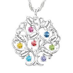 75th Birthday Centerpiece Ideas | 75th Birthday Family Tree Necklace