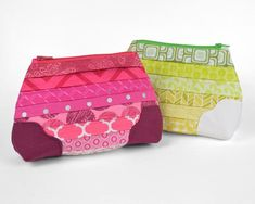 pleated patchwork pouch free tutorial