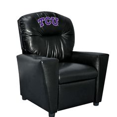 TCU Horned Frogs Faux Leather Toddler Recliner