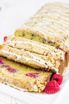 Loaded with fresh summer raspberries, this Raspberry Crumble Bread can be served for breakfast or dessert...or both!