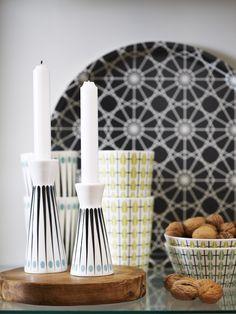 Miljöbild rund bricka Tile print