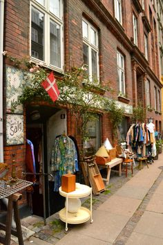 antique vintage shops in norrebro copenhagen, denmark