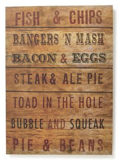Fish & Chips Menu Printed Canvas - decorative accessories  - For The Home