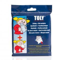 De #Toly #braakzakjes zijn handig als uw kind last heeft van wagenziekte. De zakjes neutraliseren geuren.