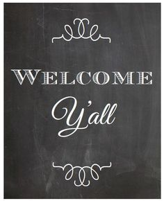 Instant download 8x10 Welcome y'all by atasteofeverything on Etsy ...