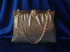 Whiting & Davis co Gold Mesh Vintage Bag by MajosCloset on Etsy