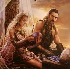 """A Song of Ice and Fire Calendar • art by Magali Villeneuve • May 2016 • """"The Magister's Gift"""""""