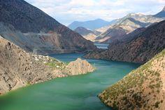 Deriner dam lake  on the way of Coruh river  Artvin, Turkey  August 2012; Copyright ©arpaboyuyol