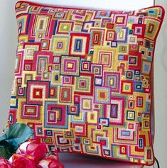 """Kaffe Fassett For Ehrman 2004 """"Overlapping Squares"""" Tapestry - Google Search"""