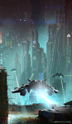 End of the Line by Stephen Zavala on ArtStation This evokes so many ideas for fiction. Cyberpunk City, Ville Cyberpunk, Cyberpunk Kunst, Futuristic City, 3d Fantasy, Fantasy Landscape, Fantasy World, Rpg Star Wars, Science Fiction Kunst