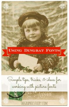 Working with Dingbat Picture Fonts - Tips & Inspiration
