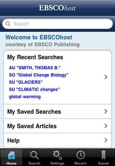 [Free] EBSCOhost at https://itunes.apple.com/us/app/ebscohost/id433269587?mt=8  Scholarly research on the go! For instructions on how to get yourself authorized in the app, see: http://www.lonestar.edu/library/15366.htm#Apps