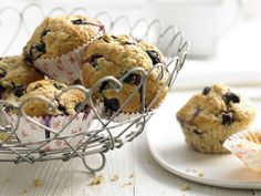 Heidelbeer-Bananen-Muffins - mit Weizenkleie - smarter - Kalorien: 159 Kcal - Zeit: 25 Min. | eatsmarter.de Heidelbeeren und Bananen sind gesunde Muffin-Zutaten.