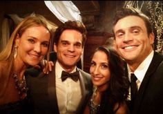 Sharon Case, Greg Rikaart, Christel Khalil, and Daniel Goddard bts at CBS Studios January 23, 2014
