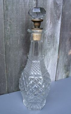 Glass Decanter With Vintage Door Knob Stopper by Casanova's Cabinet...
