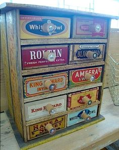 Cigar Box Chest of Drawers  Shared from Texas Art Asylum  Houston, Texas pinned with Pinvolve