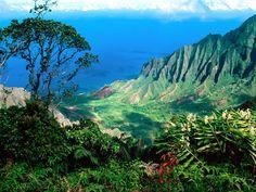 The jaw-dropping vista of the lush Kalalau Valley as seen from the Pihea trail, Kauai.  http://www.lovethesepics.com/wp-content/uploads/2012/03/Pacific-Breezes-Kalalau-Valley-Kauai-Hawaii.jpg
