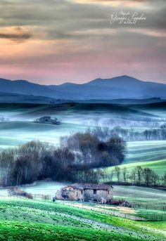 Morning in Tuscany by Giuseppe  Peppoloni (Italy)