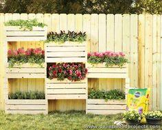 Pallet Wall Planter Box