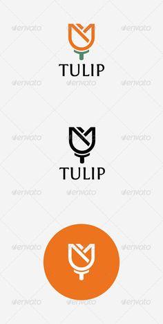 Tulip Logo — Vector EPS #oubdf #sleek • Available here → https://graphicriver.net/item/tulip-logo/7403561?ref=pxcr