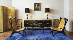 blue and gold sitting space? count me in!