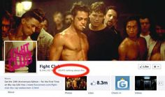 Uh oh. A lot of people have violated rules 1 & 2 of Fight Club...