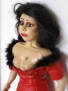 """Vintage Burlesque Erotic Advertising Doll"""