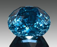This Stunning Blue Topaz weighs in over 100CTW