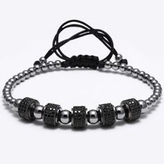 Round Stainless Steel Beads Bracelets