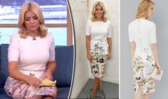 Holly Willoughby skirt: Star's skin-tight Ted Baker outfit nearly causes knicker FLASH