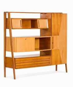 Anonymous; Cherry and Mahogany Wall Unit, 1950s.