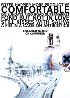 Radiohead OK Computer Album Cover Alternative Indie Rock Music Poster Print 24 by 36 ** More info could be found at the image url.Note:It is affiliate link to Amazon.